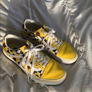 Yellow Sunflower Old Skool Vans | Poshmark
